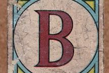 Letter B / Typography