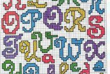 Handwerken-letters kruissteek