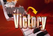 """From Victim to Victory / The TCT Network's exclusive program, From Victim to Victory is hosted by Brian Arnold, who is affectionately known as """"America's Favorite One-Handed Pianist"""". His musical talents and testimony of how Christ has worked in his life and the lives of his guests will help you move from victim to victory."""