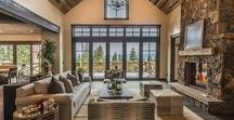 Living Rooms / Inspiring ideas to decorate and furnish your mountain living room. Focusing on Lake Tahoe and Truckee.