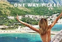 One Way Ticket / vacation, traveling, paradise