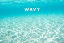 Wavy / beach, surf, sand, swimming