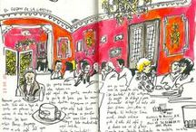 Carnets d'exquis croquis. / by Dominique BELLA