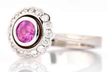 Pink, Rose & Red Engagement Rings