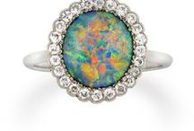 Opal Rings / Opal Rings for women featuring Genuine Opal with or without natural accent stone like Diamonds.   www.flashopal.com  #opal