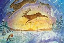 Yule & Imbolc / ༺♥༻ winters months moods and pagan holidays ༺♥༻