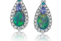 Opal Earrings / Earrings in Silver or Gold and set with Opals