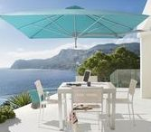 Wall Mounted Umbrellas / The Paraflex Wall Mounted Umbrella is the perfect choice for shading a small space. Compact, with a adjustable canopy and flexible arm you can create the shade where you want, when you want.