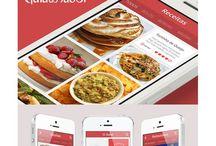 Flat Mobile App Design / Great mobile designs using flat UI elements