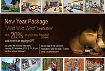 Get a fresh start to 2014 in Novus Puncak / Enjoy a 20 % discount on your daily breakfast and receive an exciting GIFT The Wild West Party New Year Package