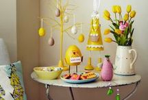 Easter Inspiration / Spring has sprung and Easter is just around the corner, so it's time to adorn your home with spring flowers, welcome in the Easter bunny and indulge in some chocolate heaven.