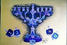 Jewish Artwork. / Artwork I have done for my Jewish Patrons.  Can make on commission.  Contact me for consultation.   mstoniblair@yahoo.com.