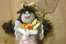 Anioły / Angels / Wykonane na szydełku ozdobne aniołki / Crochet angels