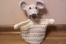 Pacynki / Hand puppets / Wykonane na szydełku pacynki / Crochet hand puppets