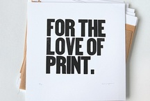 For the love of print