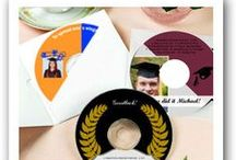 Graduation / Celebrate a special #graduation in style. Custom design your own graduation #stickers, #labels and graduation #favor #tags.  Make the graduation memorable with #customized #CD & #DVD #labels. Personalize coasters with the graduate's picture as well as school colors & much more.