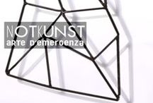 [ notkunst ] / NOTKUNST means emergency art; the word comes from German. The brand philosophy about design and creative process is to achieve a border crossing of the poetic investigation in the flow of daily life, using as medium the creation of haute couture handbags. Bags conceived as conceptual containers, not only wrapping objects. By metaphor, the NOTKUNST bag is a first aid kit, able to bring, in case of need, relief through the administration of small quantities of art.