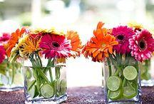 Flores Boda / Centros d mesa, arreglos y caminos d flores