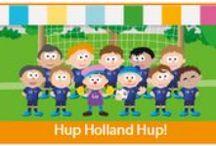 Hup Holland hup! / In dit thema sluiten we aan bij het WK voetbal van 2014. Alles staat in het teken van voetbal en oranje. De kinderen zaaien hun eigen grasveldje en kijken hoe het gras groeit. Ze kruipen in de huid van echte Oranjesupporters terwijl zij naar een voetbalwedstrijd kijken. Ook oefenen zij hun voetbalvaardigheden tijdens een trainingsparcours en maken ze hun eigen muziekinstrumenten. Er worden eigen voetbalshirts ontworpen door de kinderen en zij spelen voetbalwedstrijdjes met en tegen de ouders.