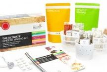 The ULTIMATE Cheese Making Kit / This bumper edition Cheese Making Kit contains everything you need to make 8 varieties of fresh delicious cheese, and comes with a range of herbs and spices, 3 cheese moulds, and a glorious recipe book. Just add milk and you're on your way…