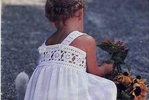 vestidos niña y otras prendas / vestiditos y otras prendas de crochet, punto, etc