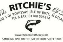 Favorite Smoked Recipes / We love local produce - especially Ritchie's of Rothesay's infamous smoked fish & cheese from the Isle of Bute. Yummy!