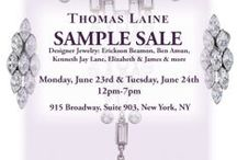 ANNUAL Sample SALE!! / Preparing for our sample sale which takes place on Monday and Tuesday Jun 23rd and 24th 2014 in our  NYC Showroom. All pieces will be marked down to clear - crazy prices to clear - some earrings will start at $5.  Shop sale items now at www. ThomasLaine.com