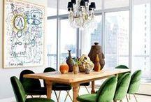 Salas de jantar / Misturas mil em salas que funcionam cheias de criatividade!
