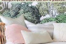 Almofadas / Combinações criativas de estampas e texturas para inspirar! Simples trocas de capas mudam completamente o décor ;)