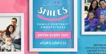 Camilia Smiles / Win a family portrait package plus $500! Enter Camilia® Smiles Sweepstakes before June 15, 2018.