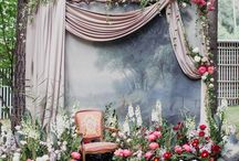 Backdrops / Beautiful, interesting, fun, eye catching backdrops for party table set up