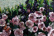 Showcase Mosaics: Floral Mosaics / Floral mosaics designed by Showcase Mosaics / http://www.showcasemosaics.com