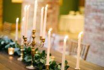 гирлянды и свечи
