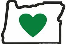 Heart in Oregon / Heart in Oregon, Love Oregon, or Oregon Love, the words may change but the feeling is the same- I love it here!  Drawn on a napkin in 2003, Heart in Oregon's heart is green because...it's Oregon and we have trees.