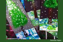 Joulu - Christmas / Christmas ideas for school art classes
