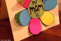 Isänpäivä, äitienpäivä, synttärit / Ideas for mother's and father's day projects (school)