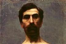 Francisco Antonio Cano C / Francisco Antonio Cano Cardona (1865 - 11 de mayo de 1935) fue un pintor y escultor colombiano del departamento de Antioquia muy célebre por sus obras más conocidas es Horizontes en donde expresa la llamada Colonización antioqueña (1913) que tuvo lugar durante la segunda mitad del siglo XIX y principios del XX de la región del Eje Cafetero o Región Paisa. Cano nació en el municipio de Yarumal (Antioquia) el 25 de noviembre de 1865 y falleció en Bogotá el 11 de mayo de 1935.