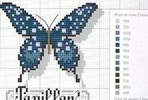krížikové vyšívanie - Motýle