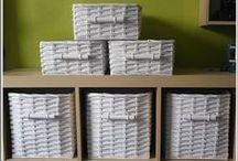 papierové škatuľky a košíky