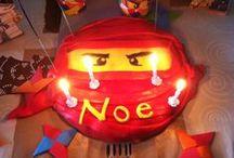 Anniversaire Noé Ninjago / pour les 4 ans de mon fils