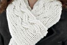 Scarves by Natalie Servant / Knitting patterns for scarves: lace, cables, ribbing, colorwork, double knitting, etc.