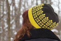 Hats by Natalie Servant / Knit hat patterns designed by Natalie Servant: ribbing, double knitting...
