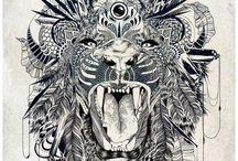 zen doodling / Fine nib creativity
