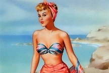 Pin-ups Vintage Fashion / Great moment in history. (1950's) Pin ups inspiring women all around the world.