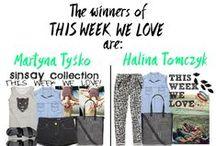 THIS WEEK WE LOVE / W konkursie zwyciężyły Martyna Tyśko i Halina Tomczyk. Dziewczynom gratulujemy i prosimy o przesłanie danych kontaktowych na sinsaylpp@gmail.com
