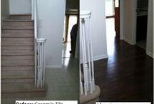 Before & After / Flooring makes a big impact in the appearance of your home. Check out these Before & Afters of Riemer Floors customers where the flooring made all the difference!