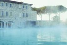 Mom's day at the spa ...  / Moms who stay with us in Tuscany can take advantage of nearby Saturina Spa.