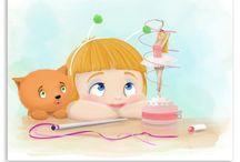 Kinderkamer muurdecoraties / Superlieve en schattige muurdecoraties voor de kinderkamer. Sterke kleuren, vrolijk en humor. Getekend door Roy Korpel en alleen te koop bij Lievespulletjes.nl