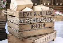 The Vintage Apple Crate Wedding Range / You wouldn't believe how many things you can do with an Apple Crate! We recently heard that Rustic is the 'in' thing for weddings although it can be hard to come across items that are genuinely Rustic rather than made to look Rustic. So we created some Wedding Signs and Gift Card Boxes which can be personalised so everyone gets a unique item.