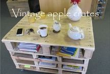 Our Apple Crate Furniture Creations / Rustic Storage and Display ideas!
